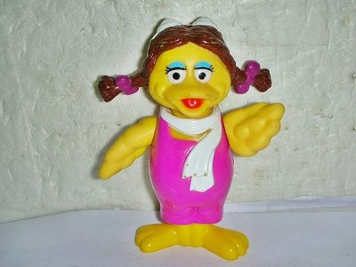 L.(企業寶寶玩偶娃娃)少見1993年麥當勞發行大鳥姐姐公仔!!--距今已24年值得收藏!/黑箱10/-P