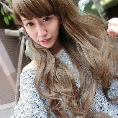自然飄逸輕甜女孩浪漫微捲長髮【MA024】高仿真整頂假髮☆雙兒網☆
