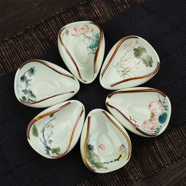 5Cgo【茗道】含稅會員有優惠 43491078288 茶荷陶瓷手繪青瓷窯變功夫茶具茶道零配配件茶則茶勺茶匙茶荷茶葉