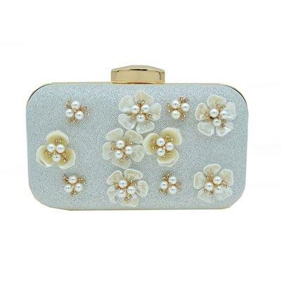 晚宴 包 珍珠手拿包-時尚甜美花朵精美女包包2色73su13[獨家進口][米蘭精品]