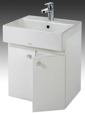 [勞倫斯衛浴生活商場] TO-727E烤漆浴櫃-寬50CM(合TOTO-LW727CGUR面盆)(價格不含盆)淋浴拉門