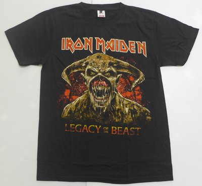 【Mr.17】Iron Maiden 鐵娘子樂團 骷髏頭 惡魔 進口滾筒無接縫樂團t-shirt 短袖(HB023)