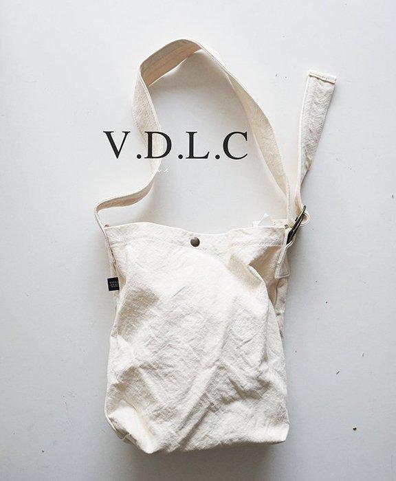 MH 選物室 V.D.L.C  日本製 倉敷帆布 雙環調整背帶設計 帆布 肩背 側背 包 帆布包 帆布袋  VC-20