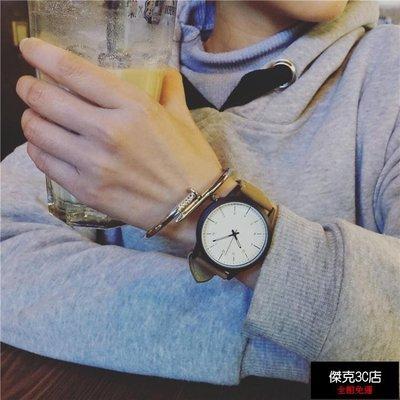 【促銷免運】韓國女學生簡約大錶盤個性潮流情侶手錶時尚風潮男錶【傑克3C店】