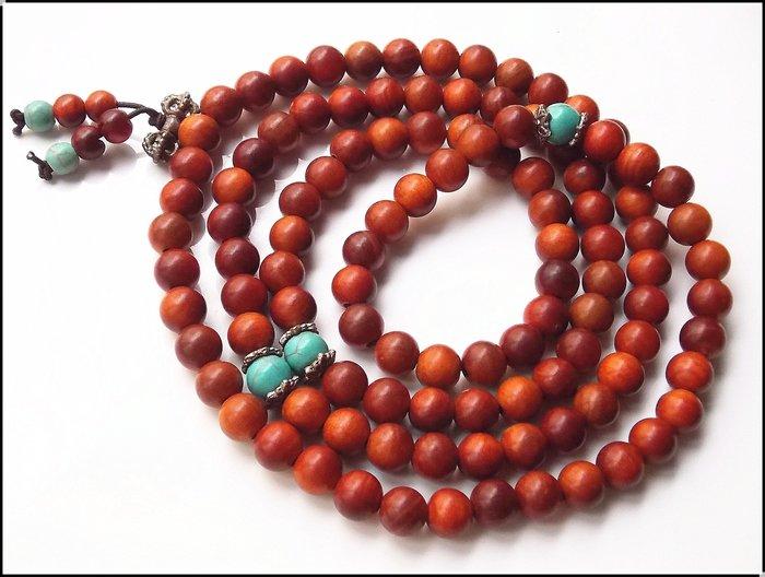 【雅之賞|藏傳|佛教文物】特賣*印尼透光血龍木( 8mm ) 108顆佛珠~205057
