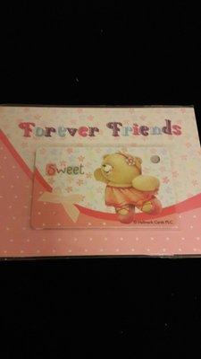Forever  friend小熊一卡通迷你小卡