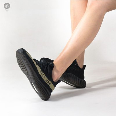 adidas Originals YEEZY BOOST 350 V2 黑綠 女鞋 BY9611