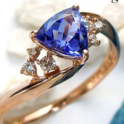 【馬格斯珠寶】18K 日式輕珠寶 丹泉石戒指 坦桑石戒指 agete類似款 tiffany愛用款 專櫃貨 168