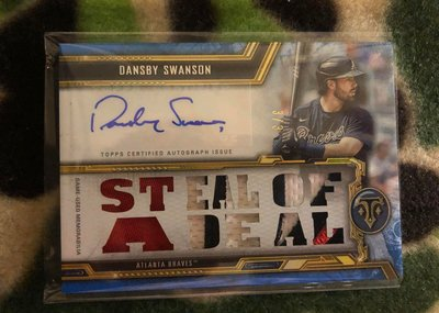 2020 Triple Threads relic patch autograph Dansby Swanson 3/3