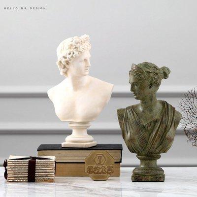 希臘 維納斯 阿波羅 王室 皇家 頭像 擺飾 頭像 裝潢 客廳 開店 歐式典雅 少女 雕刻 宮廷 【WQ 35】