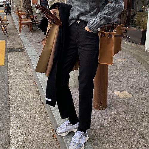 i-Mini 正韓|清新氣質小直筒輕刷毛九分褲‧3色|SML‧ 韓國連線‧代購‧空運【C11044936FM】
