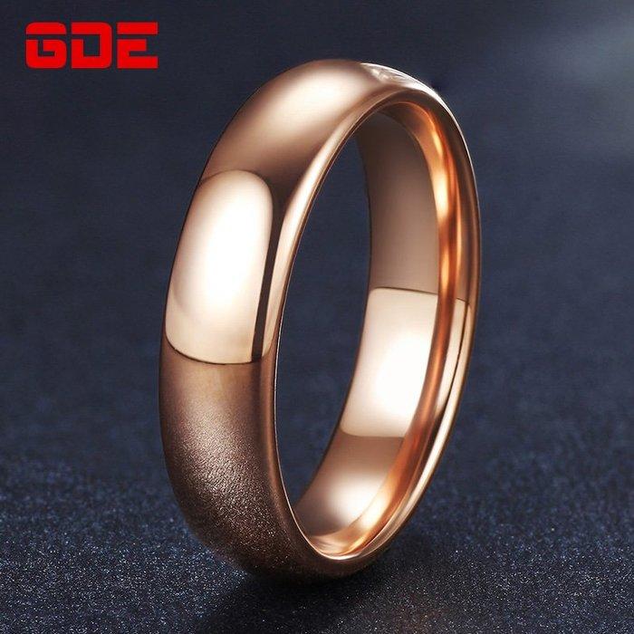 乾一簡約男士戒指鎢金鍍18K玫瑰金戒子學生食指飾品男戒指韓版個性潮