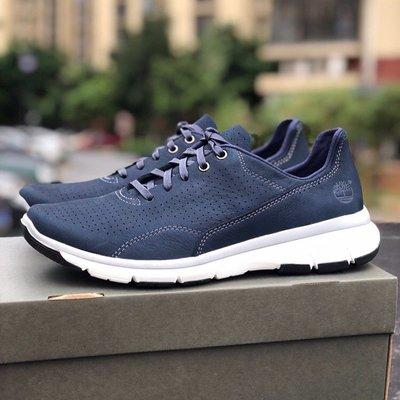 Timberland-TOP男士休閒鞋2215A2H7M經典款時尚透氣運動鞋 藍色 39-44碼