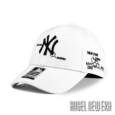 【PD帽饰】【MLB Old Fashioned Cap】NY 紐約 洋基 白 老帽 化學式【ANGEL NEW ERA 】