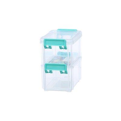 315百貨~聯府 4號高點連結盒(2入) CC402   /  小物 零件 堆疊 防塵 分類