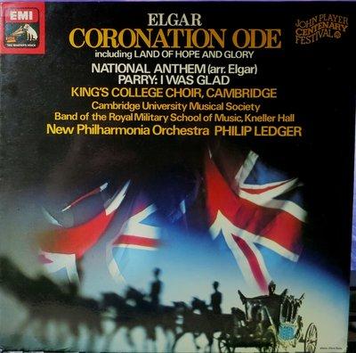 黑膠 Ledger - Elgar 艾爾加 : Coronation Ode  加冕頌 英HMV 黑白狗首版 TAS