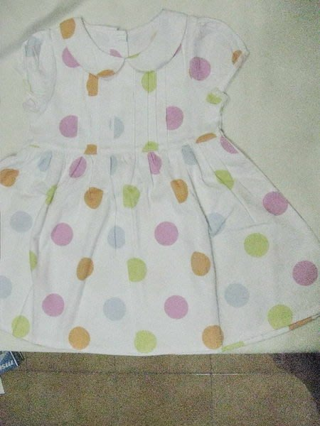 彩色圓點洋裝