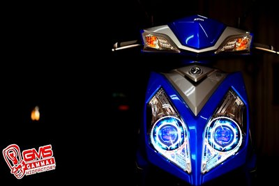 GAMMAS-HID台中廠-SYM NEW FIGHTER 6代 GMS六代遠近魚眼-LED光圈天使眼 飾圈 NFT