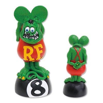 (I LOVE 樂多) Rat Fink Bobbing Head on 8Ball  RF 老鼠芬克 站立八號球 公仔