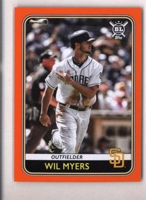 橘邊特卡 2020 Topps Big League Orange #124 Wil Myers