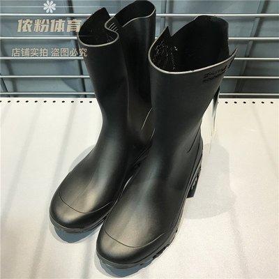 新款雨鞋迪卡儂 正品 高筒長筒情侶雨鞋套鞋水鞋男女成人防滑時尚舒適雨靴