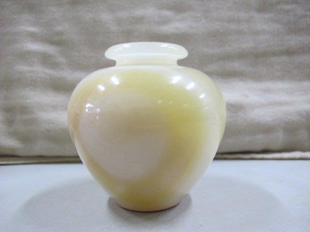 二手舖 NO.3810 天然玉石 玉髓花瓶擺件 玉石聚寶盆 居家擺件