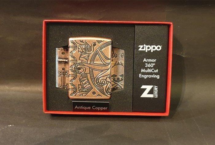 ONE*$1~*美系*ZIPPO*Armor 360度 《航海場景設計*年度限量版 》四面*仿古銅*編號:49000
