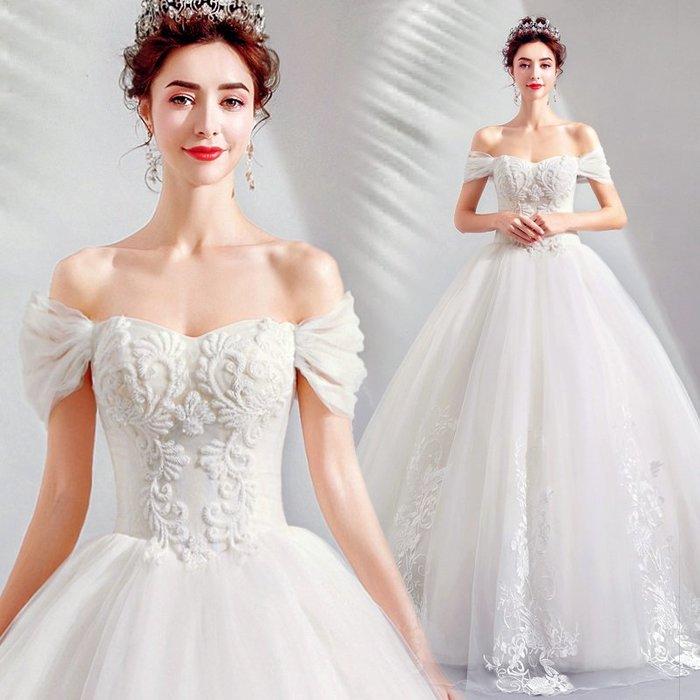 妞妞 婚紗禮服~皇室深V新娘婚紗長禮服~3件免郵