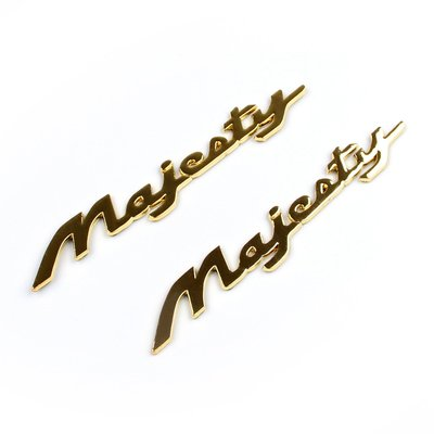 《極限超快感!!》Yamaha Majesty Motorcycle Series專用金色立體字標