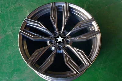 全新BMW X5 X6 最新式樣20吋5/120前後配灰底車面鋁圈