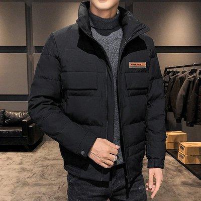 冬季保暖抗寒羽絨服廠家直供2020男裝新款立領男士羽絨服短款韓版休閑加厚外套羽絨服