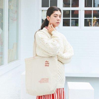 [瑞絲小舖]~日雜附錄she said that特製提袋 托特包 單肩包 側背包 肩背包 購物袋