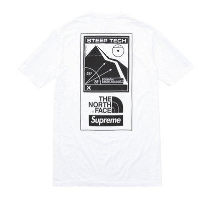 [美國直送] 2016 Supreme X The north face steep tech 白 Size: M