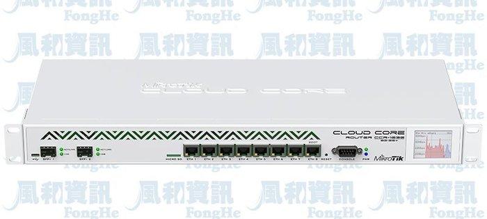 MikroTik CCR1036-8G-2S+ 旗艦版雲端核心路由器【風和網通】