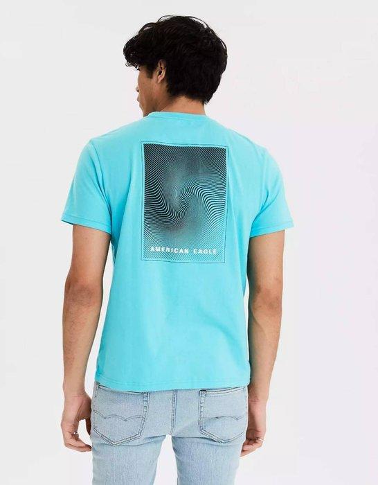 【現貨 XS S M L XL】 AE 美國老鷹 經典字母LOGO雙面圖案圓領短T 短袖T恤