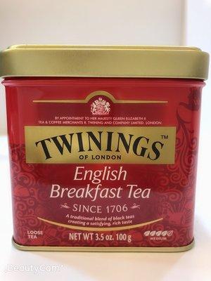 **愛洛奇**英國 TWININGS 唐寧茶 英倫早餐茶 ( 100g/罐 )(10盒免運同系列任搭)