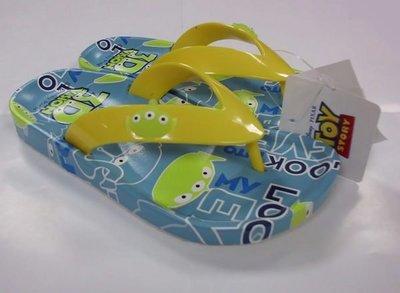 GIFT41 土城店 市伊瓏屋 玩具總動員 三眼怪 正版 兒童 夾腳拖鞋 人字拖 拖鞋 15-22 608C