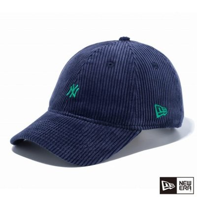 Dangerous】NEW ERA MLB 紐約洋基 NY 藍底綠 小LOGO 9THIRTY 燈心絨 日字扣 老帽