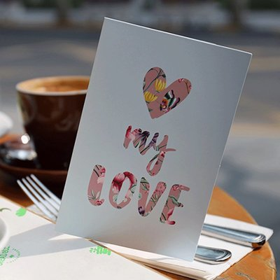 520情侶送禮賀卡情人節卡片生日祝福小卡片純色賀卡愛心感謝卡片#禮品盒#包裝盒#創意#禮物盒