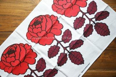890 - 〔絕版〕芬蘭 Marimekko MAALAISRUUSU Tea towel 棉麻 廚房茶巾 餐墊