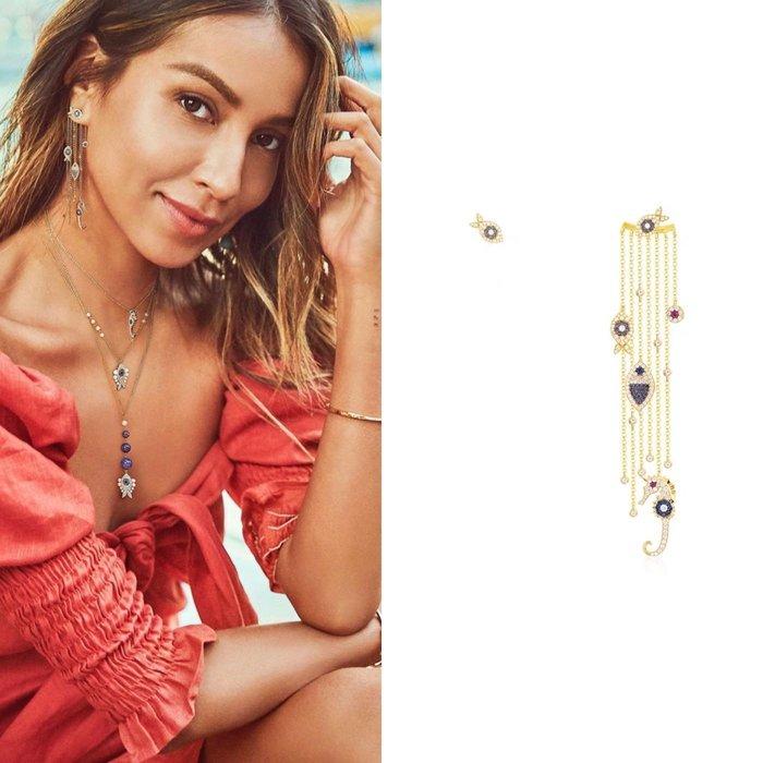 💎1881、APM法式華麗海洋元素燦爛流蘇輕奢耳環💎  精品 耳環 輕奢飾品 正韓飾品 925純銀針