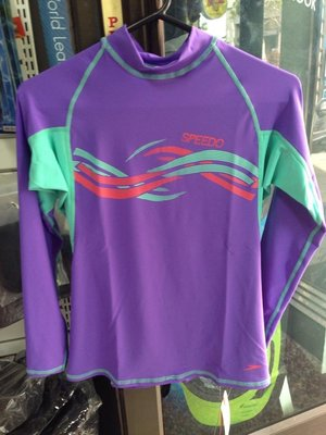 台灣潛水---SPEEDO 長袖上半身防曬衣/水母衣 (女)紫