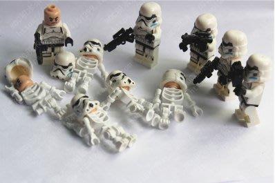小頑童 樂高LEGO式 star war 星球大戰 複製兵 風暴白兵 骷髏兵之死 人偶 套裝組