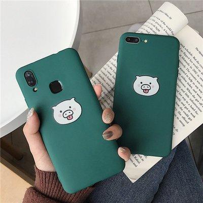 A7個性墨綠調皮豬oppoA7X手機殼...