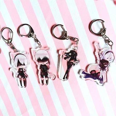 美人魚~游戲尼爾的機械紀元周邊小掛件鑰匙扣亞克力包包掛飾品生日禮物
