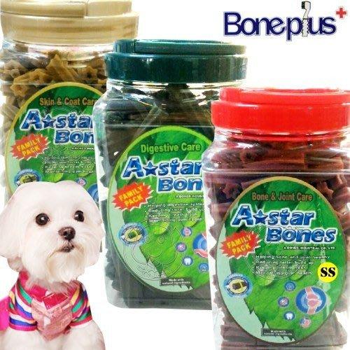 【🐱🐶培菓寵物48H出貨🐰🐹】美國A-starBones空心六星棒牙刷頭家庭桶裝潔牙骨 特價5元 自取不打折蝦