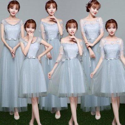 ZIHOPE 伴娘禮服 伴娘禮服女韓版短款連身裙姐妹團伴娘服閨蜜裝婚紗禮服夏ZI812