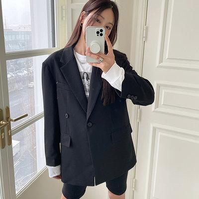 i-Mini 正韓|時尚2way雙釦翻蓋口袋西裝外套|2色‧ 韓國連線‧代購‧空運【03291183dv】