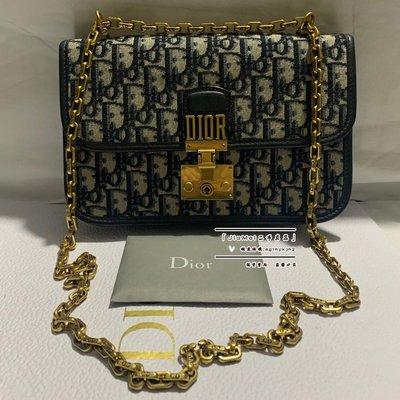 「二手99新」Dior(迪奧)Addict Oblique chain clutch 鏈條包 可單肩斜跨