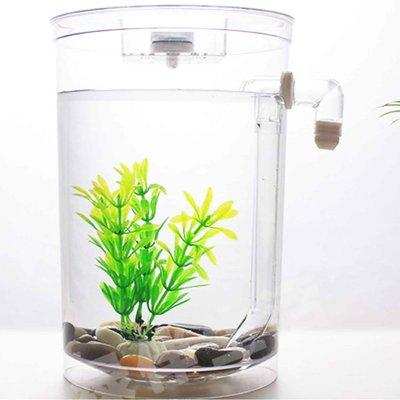 圓形款 自動換水 辦公室 懶人魚缸 小魚缸 鬥魚缸 創意魚缸 桌面 方形 居家 魚缸 生態缸水族箱
